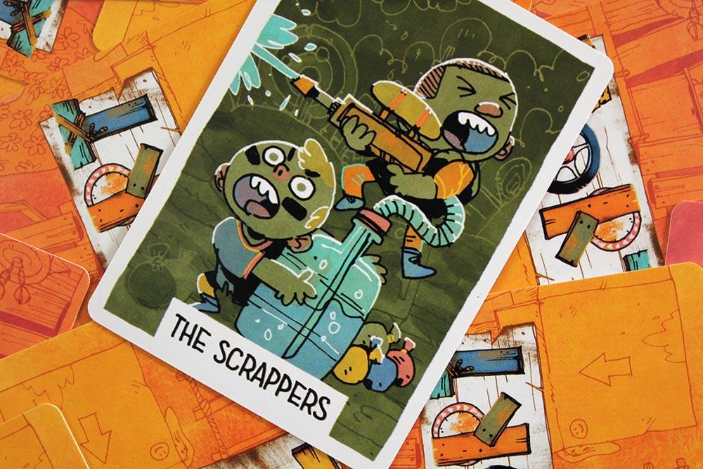 ボードゲーム「FORT」のカード「THE SCRAPPERS」
