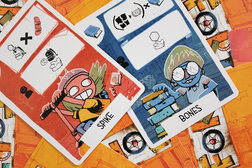 ボードゲーム「FORT」のカード「SPIKE」「BONES」