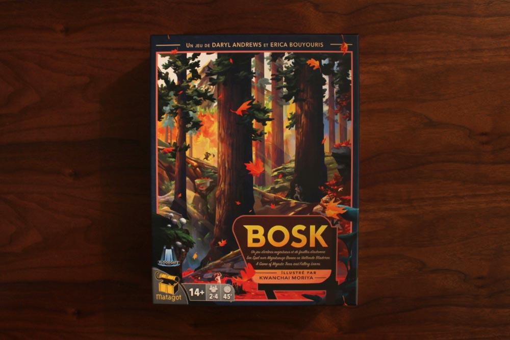 ボードゲーム「BOSK」の箱表面