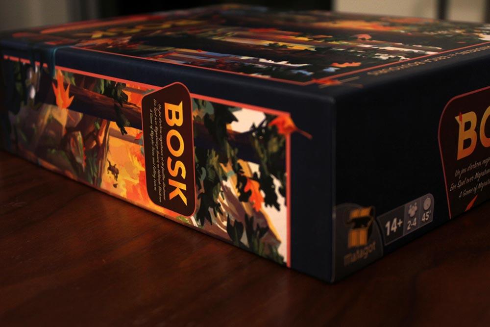 ボードゲーム「BOSK」の箱側面