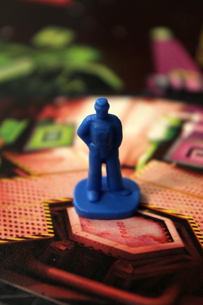ボードゲーム「SPACE ALERT」のプレイヤー駒(ブルー)