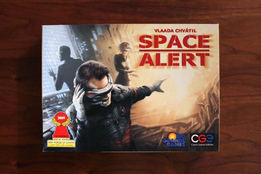ボードゲーム「SPACE ALERT」の箱表面
