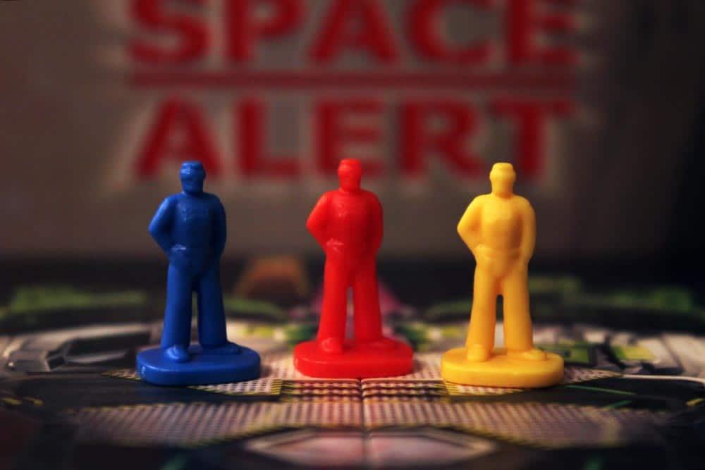 ボードゲーム「SPACE ALERT」のプレイヤー駒
