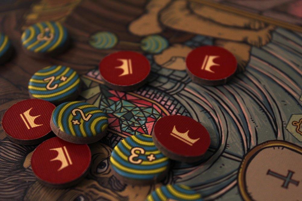 ボードゲーム「フューダム」の封蝋とビーズ