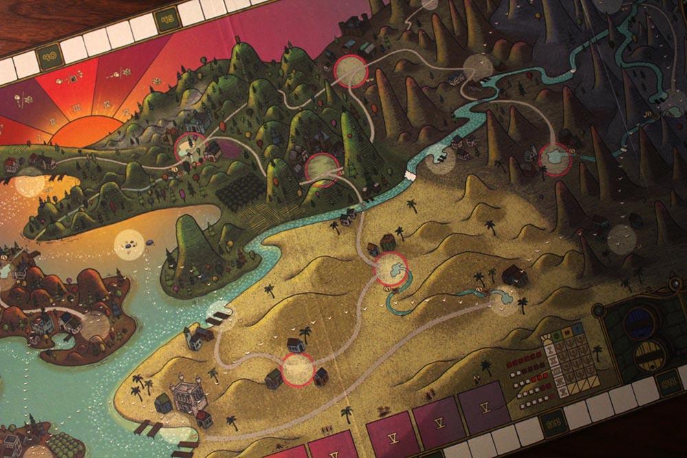 ボードゲーム「フューダム」のマップ
