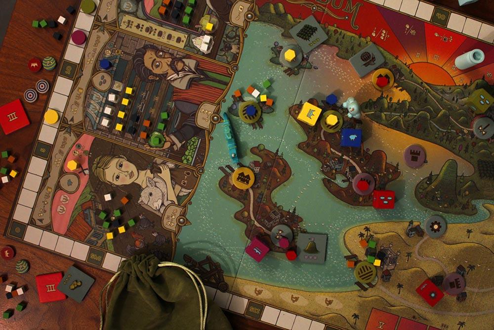 ボードゲーム「フューダム」のゲーム風景