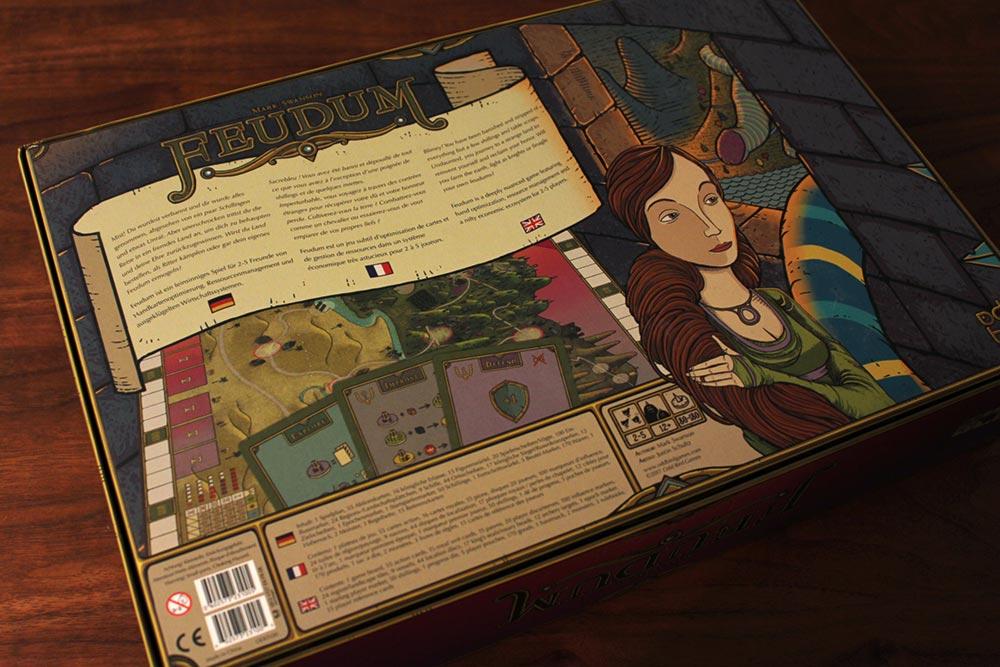 ボードゲーム「フューダム」の箱裏面