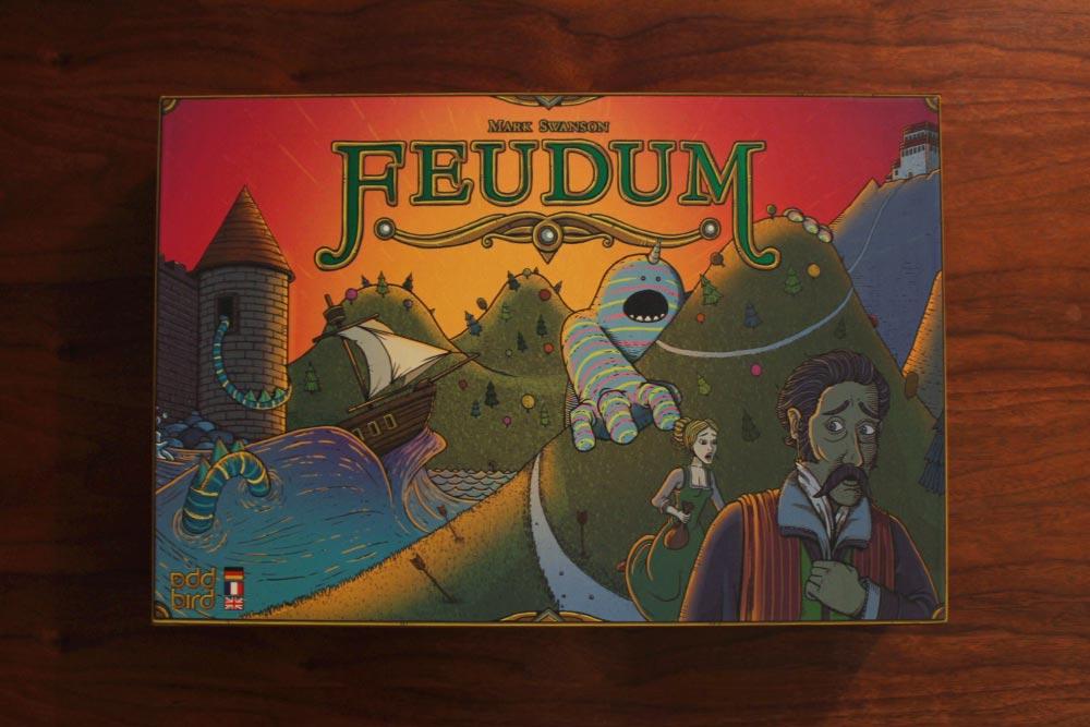 ボードゲーム「フューダム」の箱表面