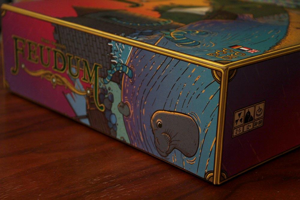 ボードゲーム「フューダム」の箱側面