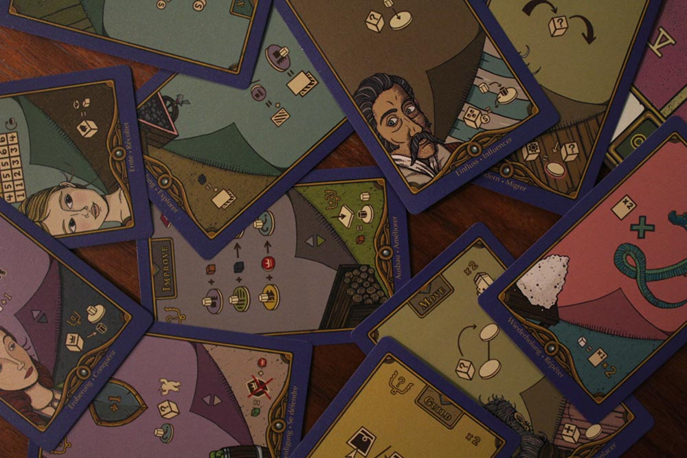 ボードゲーム「フューダム」のカード