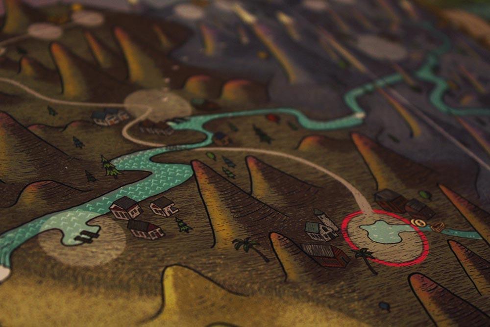 ボードゲーム「フューダム」の川